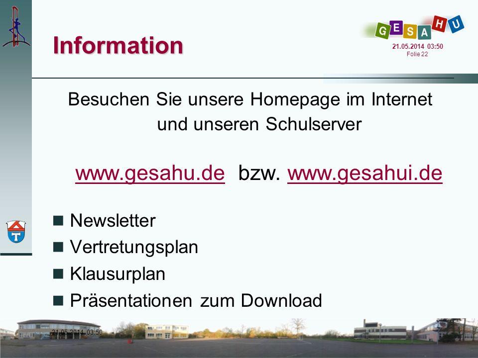 Information www.gesahu.de bzw. www.gesahui.de