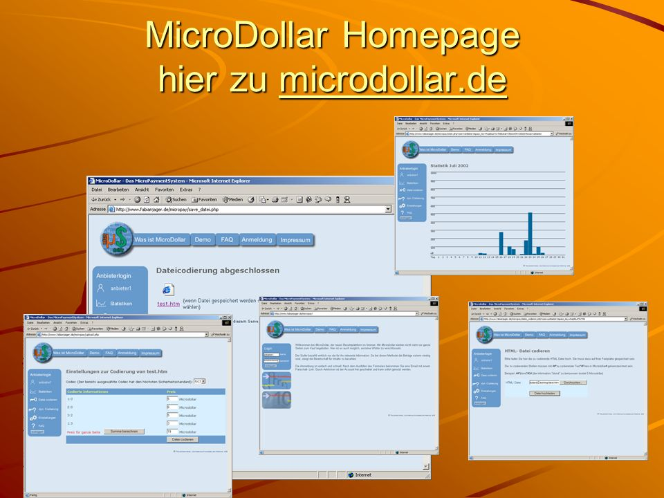 MicroDollar Homepage hier zu microdollar.de