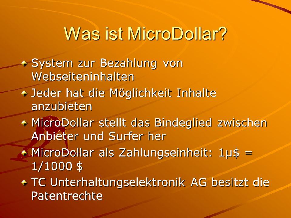 Was ist MicroDollar System zur Bezahlung von Webseiteninhalten