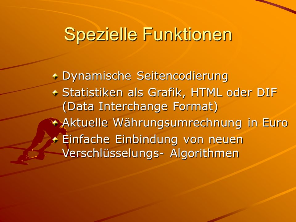 Spezielle Funktionen Dynamische Seitencodierung