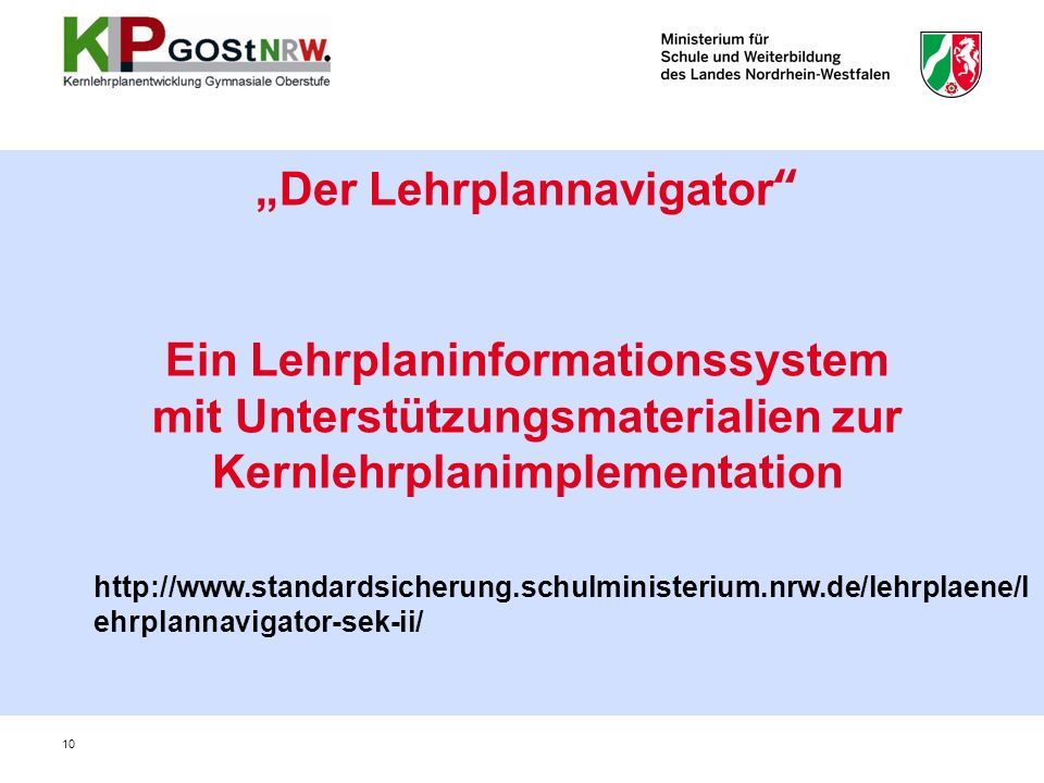 """Der Lehrplannavigator"