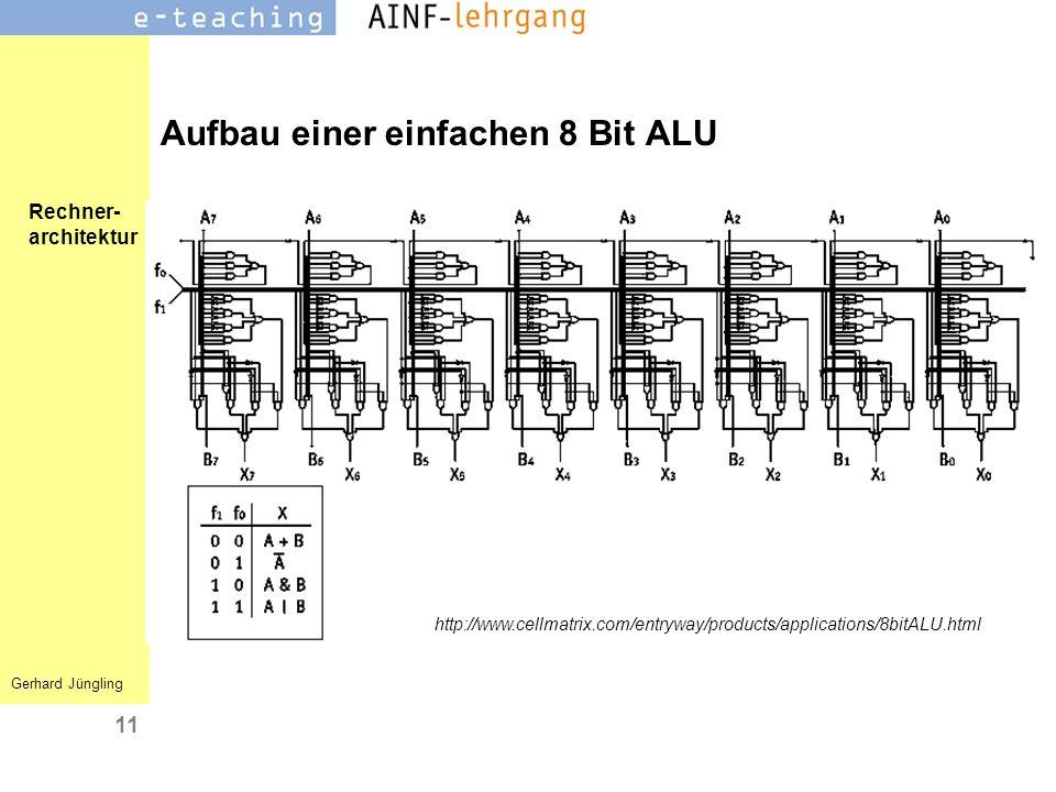 Aufbau einer einfachen 8 Bit ALU
