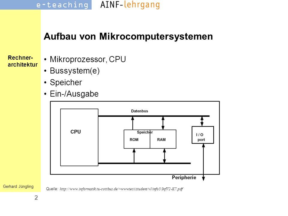 Aufbau von Mikrocomputersystemen
