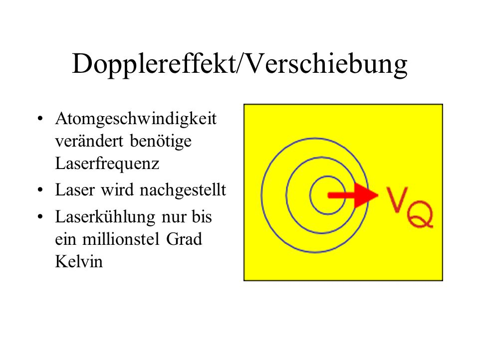 Dopplereffekt/Verschiebung