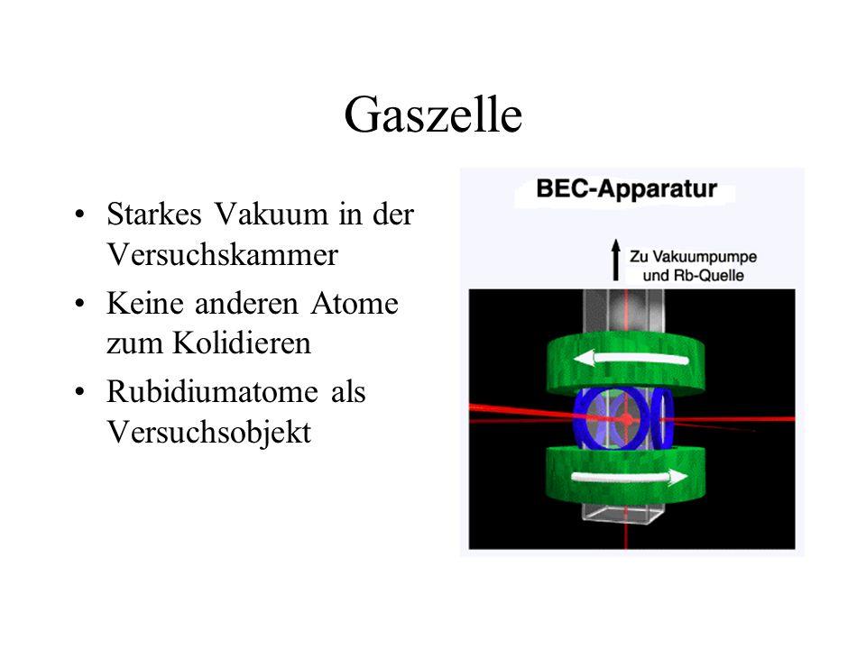 Gaszelle Starkes Vakuum in der Versuchskammer