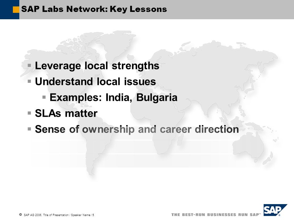 SAP Labs Network: Key Lessons
