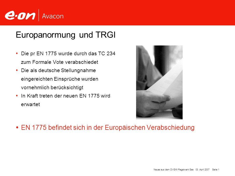 Europanormung und TRGI