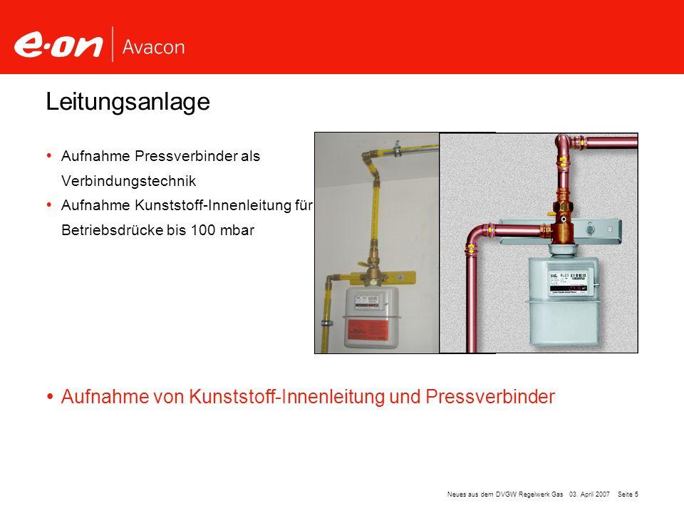 Leitungsanlage Aufnahme von Kunststoff-Innenleitung und Pressverbinder