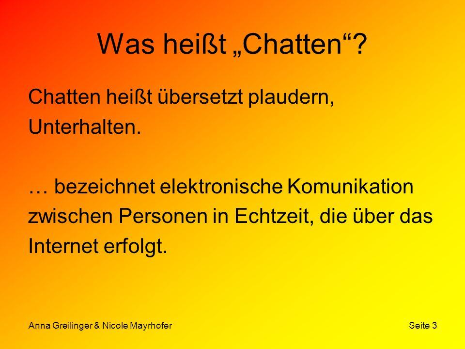 """Was heißt """"Chatten Chatten heißt übersetzt plaudern, Unterhalten."""