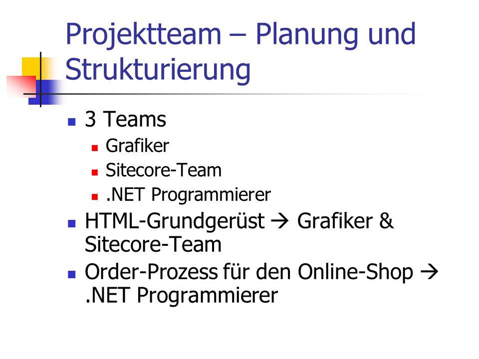 Projektteam – Planung und Strukturierung
