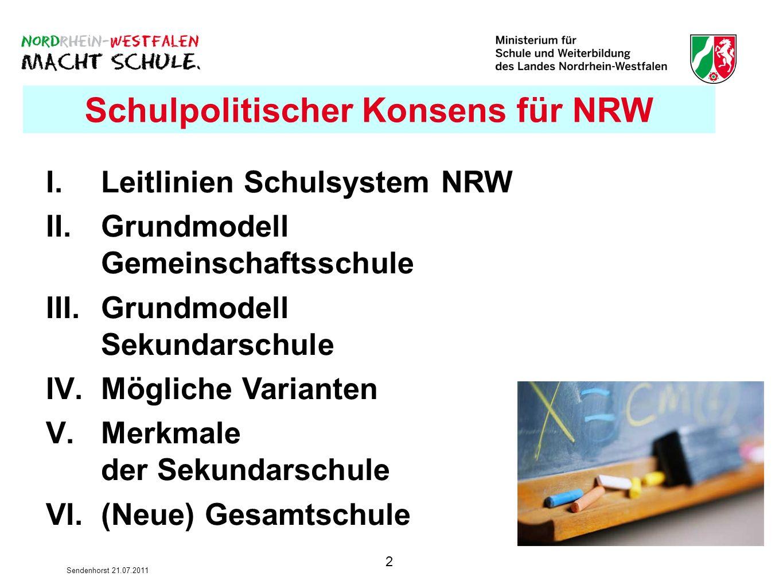 Schulpolitischer Konsens für NRW