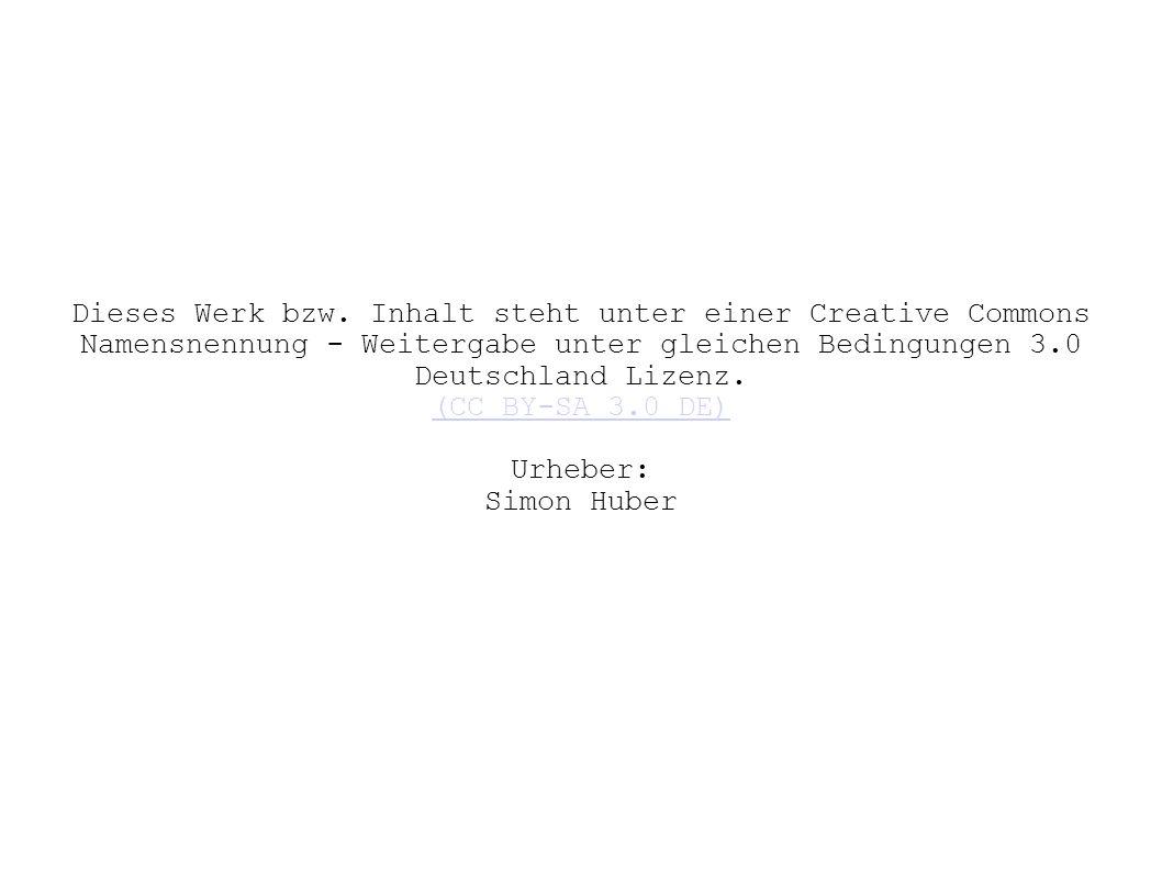 Dieses Werk bzw. Inhalt steht unter einer Creative Commons Namensnennung - Weitergabe unter gleichen Bedingungen 3.0 Deutschland Lizenz.