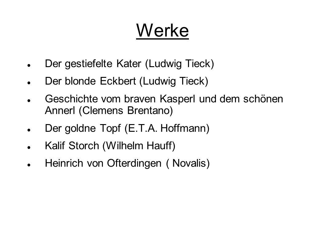 Werke Der gestiefelte Kater (Ludwig Tieck)