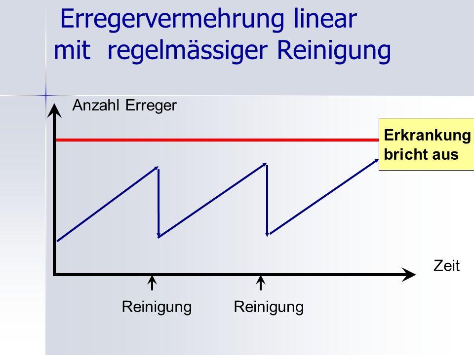Erregervermehrung linear mit regelmässiger Reinigung