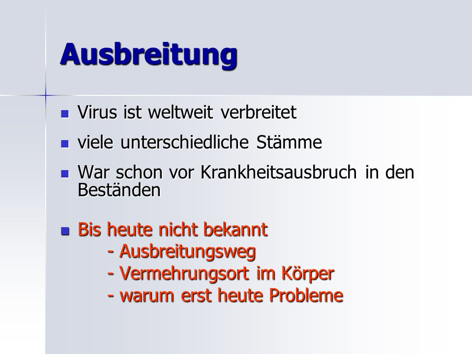 Ausbreitung Virus ist weltweit verbreitet