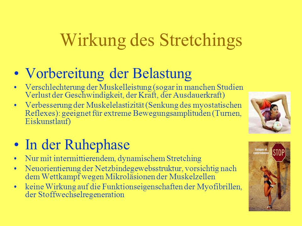 Wirkung des Stretchings