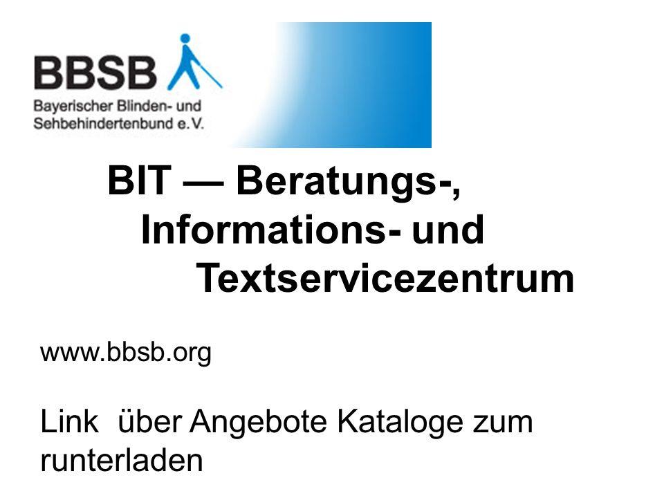 BIT — Beratungs-, Informations- und Textservicezentrum