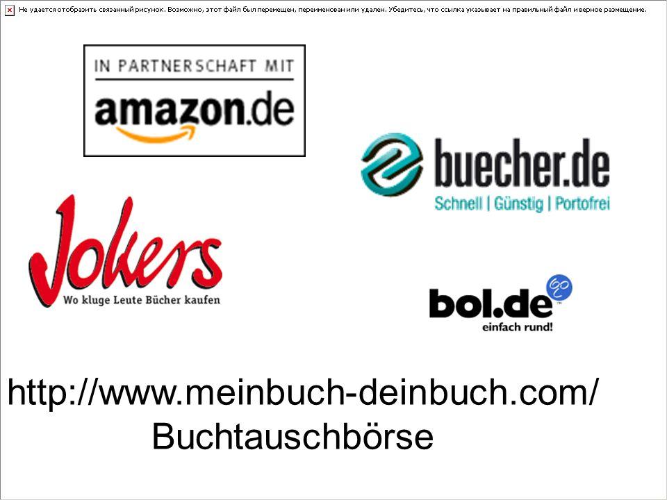 http://www.meinbuch-deinbuch.com/ Buchtauschbörse