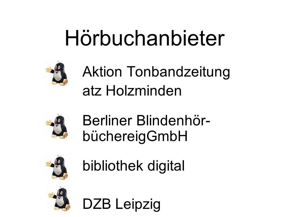 Hörbuchanbieter Aktion Tonbandzeitung atz Holzminden