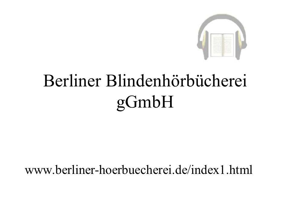 Berliner Blindenhörbücherei gGmbH