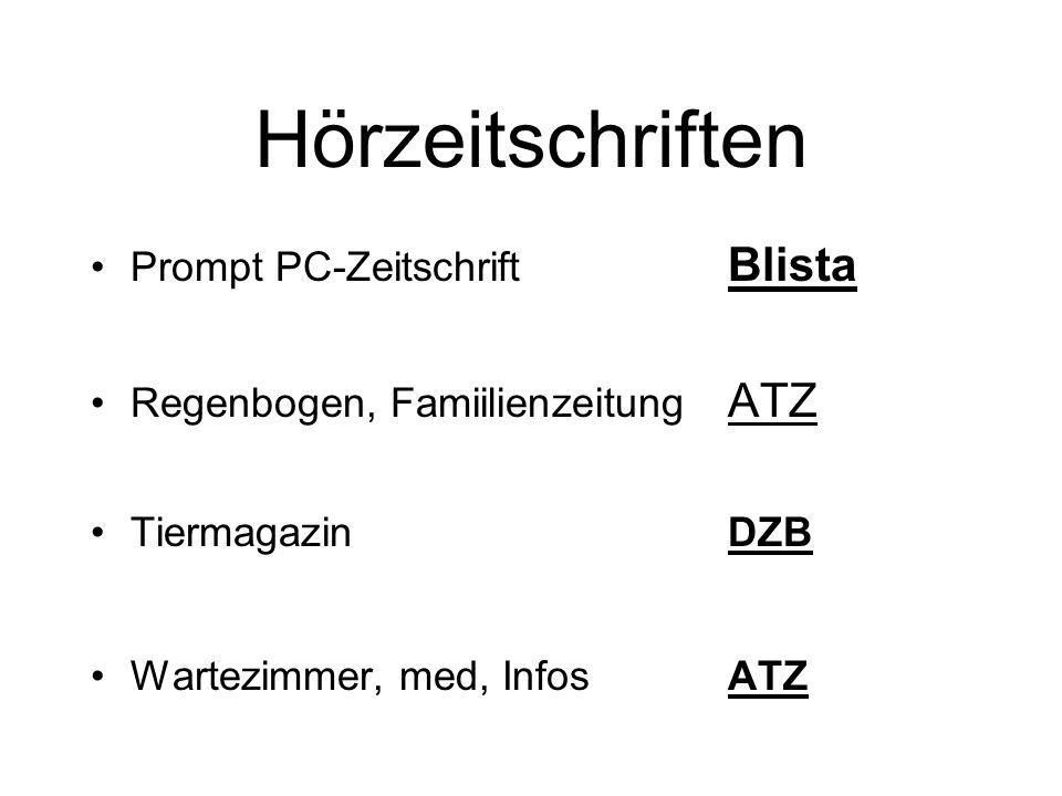 Hörzeitschriften Prompt PC-Zeitschrift Blista
