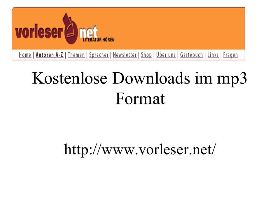 Kostenlose Downloads im mp3 Format