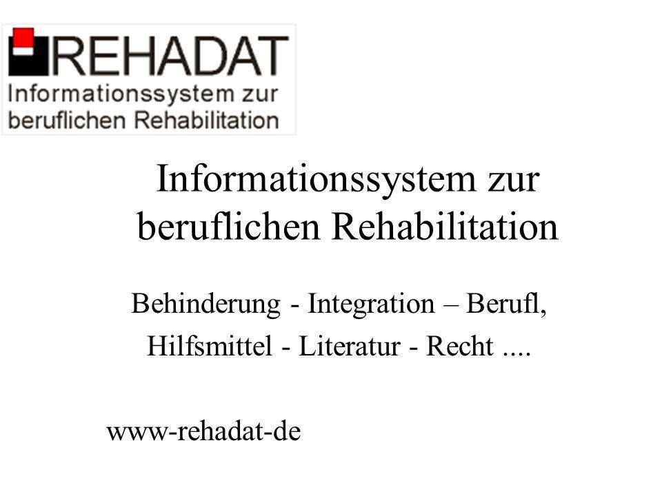 Informationssystem zur beruflichen Rehabilitation