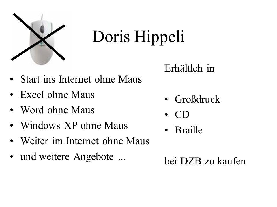 Doris Hippeli Erhältlch in Start ins Internet ohne Maus