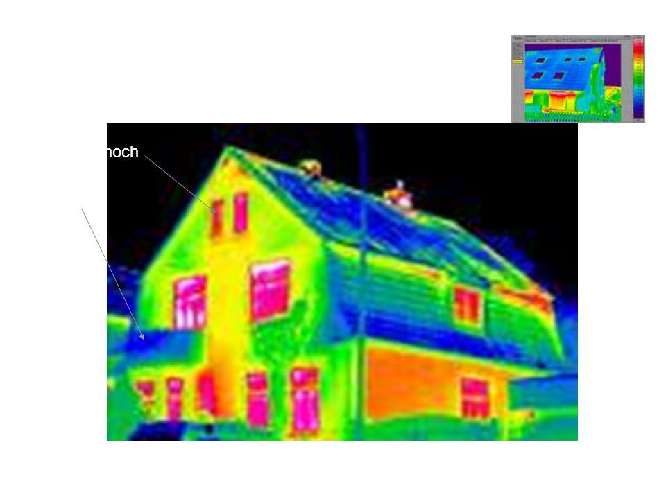 Thermographie Wärmeabstrahlung: hoch niedrig