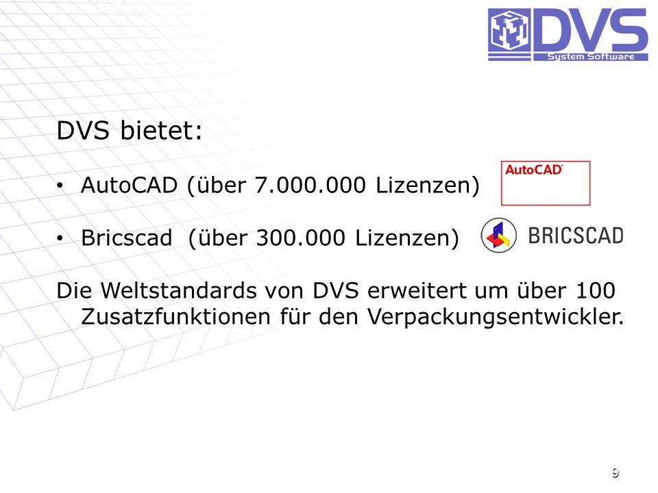 DVS bietet: AutoCAD (über 7.000.000 Lizenzen)