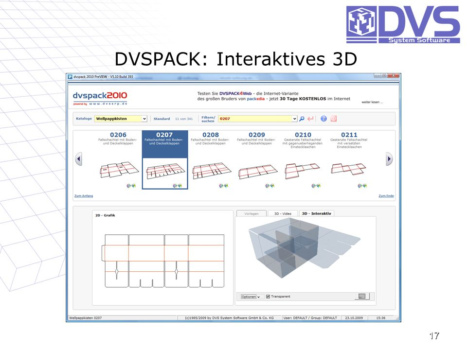 DVSPACK: Interaktives 3D