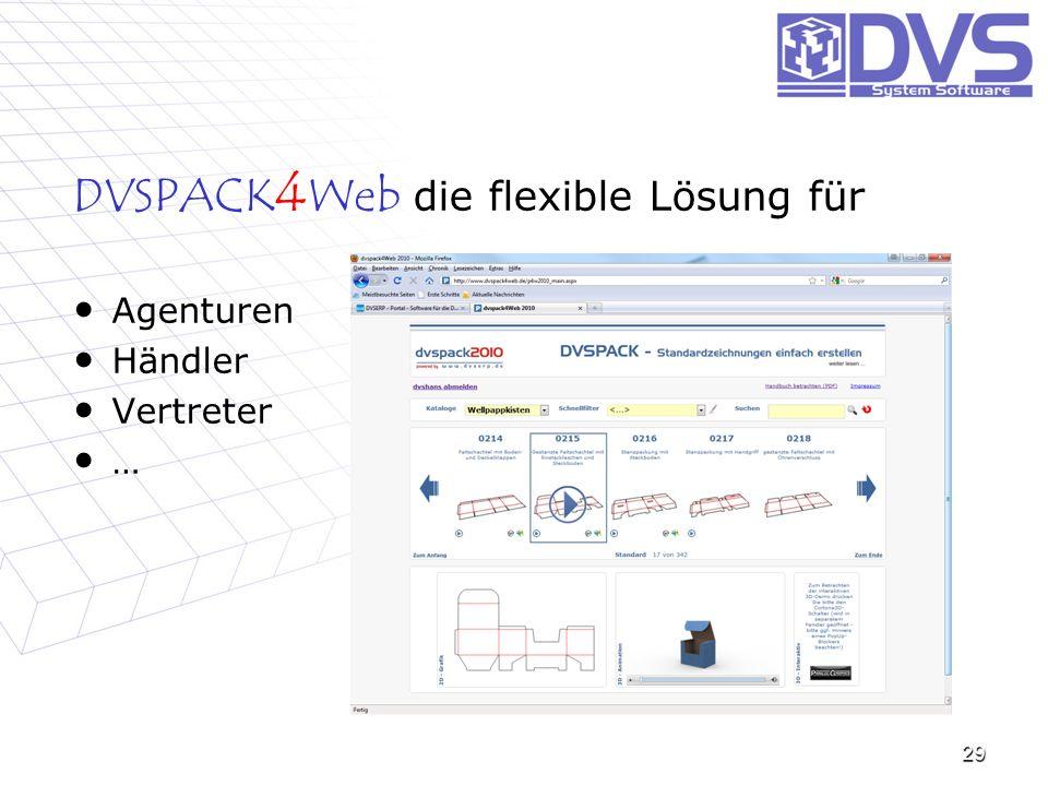 DVSPACK4Web die flexible Lösung für