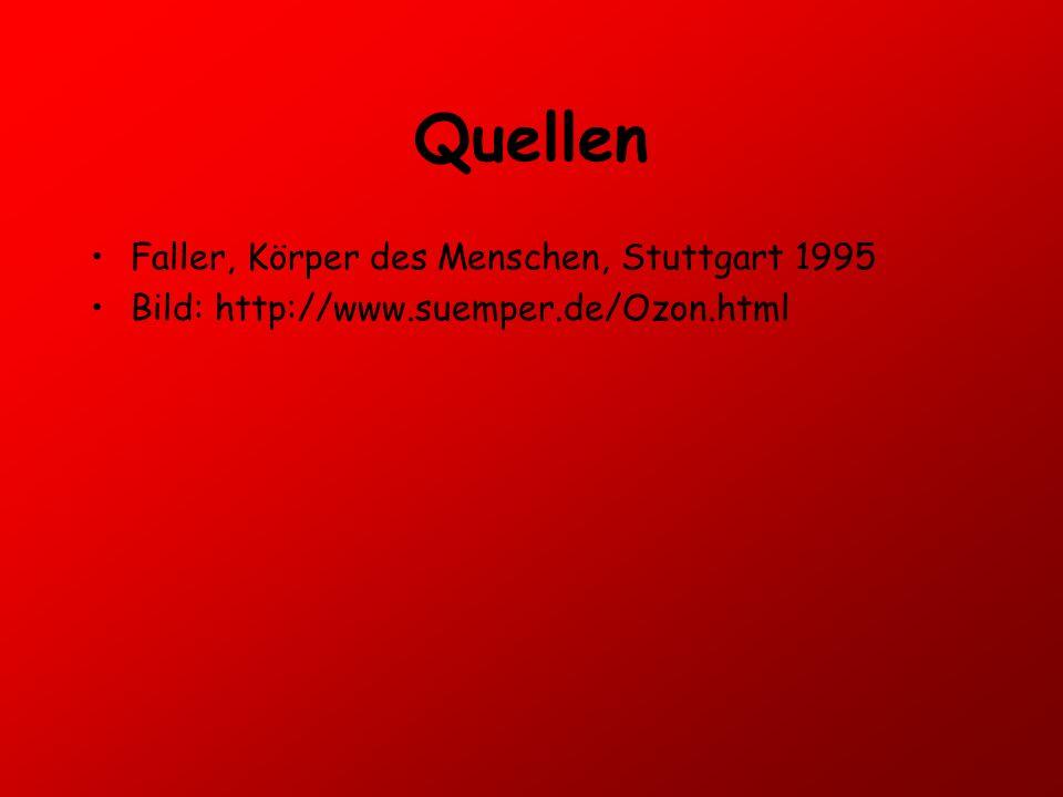 Quellen Faller, Körper des Menschen, Stuttgart 1995
