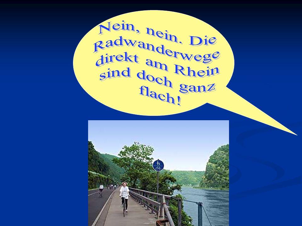 Nein, nein. Die Radwanderwege direkt am Rhein sind doch ganz flach!