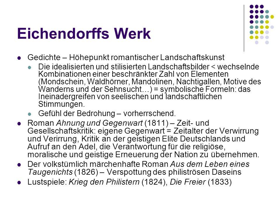 Eichendorffs Werk Gedichte – Höhepunkt romantischer Landschaftskunst