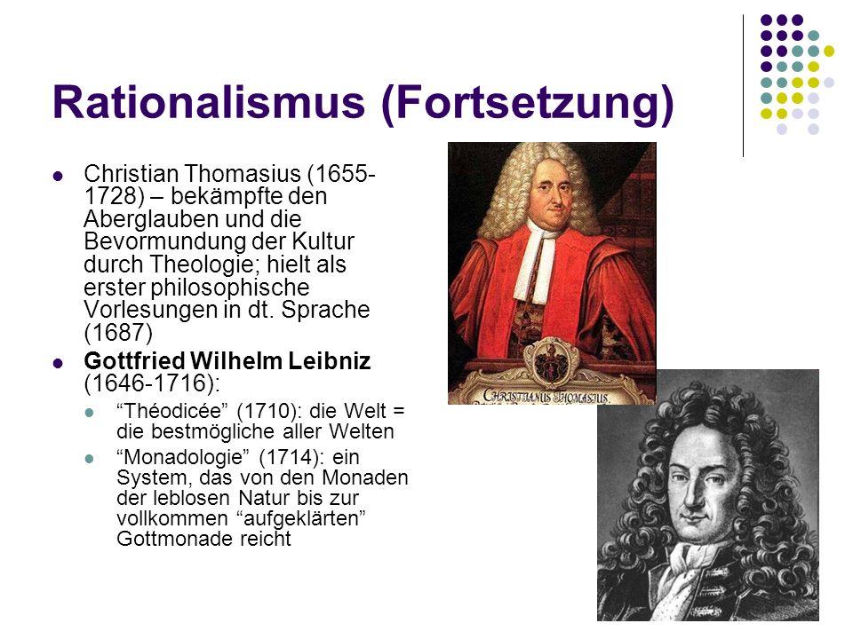 Rationalismus (Fortsetzung)
