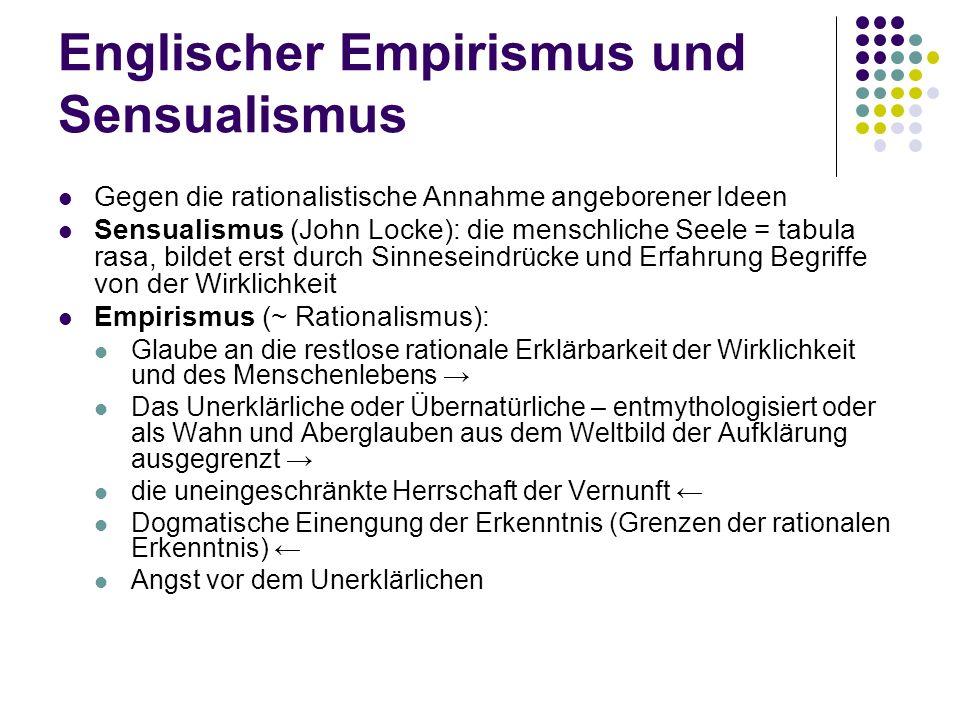 Englischer Empirismus und Sensualismus