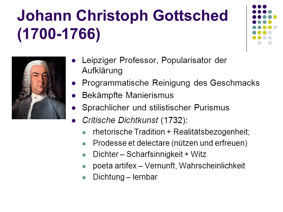 Johann Christoph Gottsched (1700-1766)