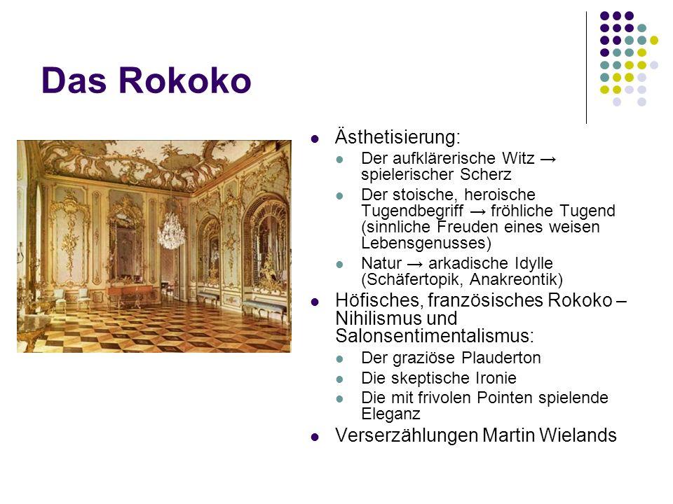 Das Rokoko Ästhetisierung: