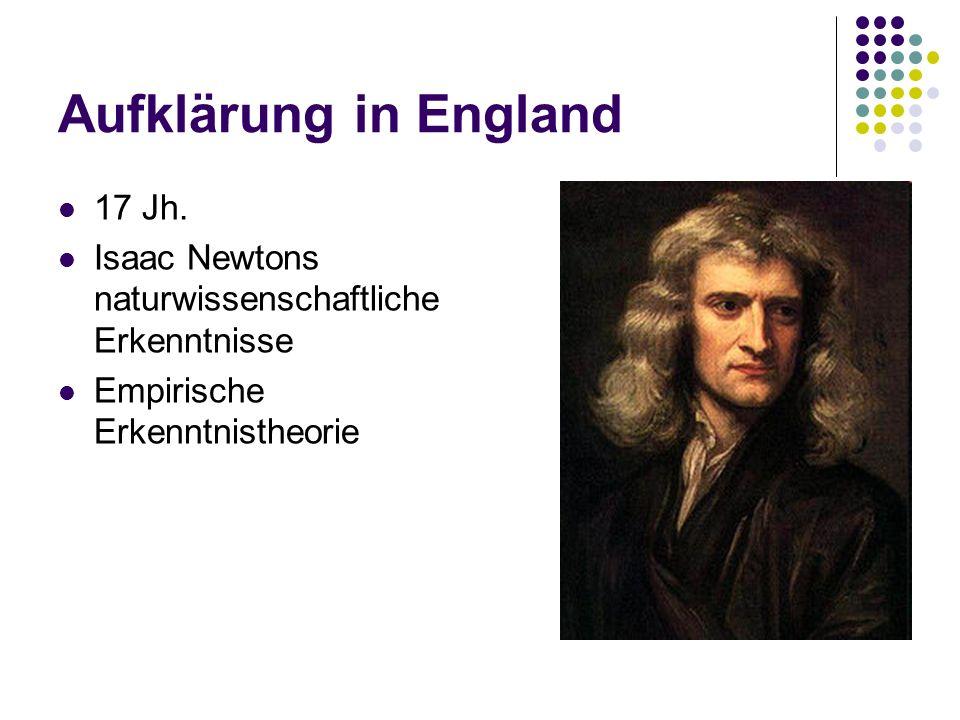 Aufklärung in England 17 Jh.