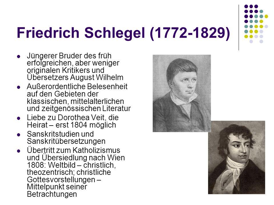 Friedrich Schlegel (1772-1829)