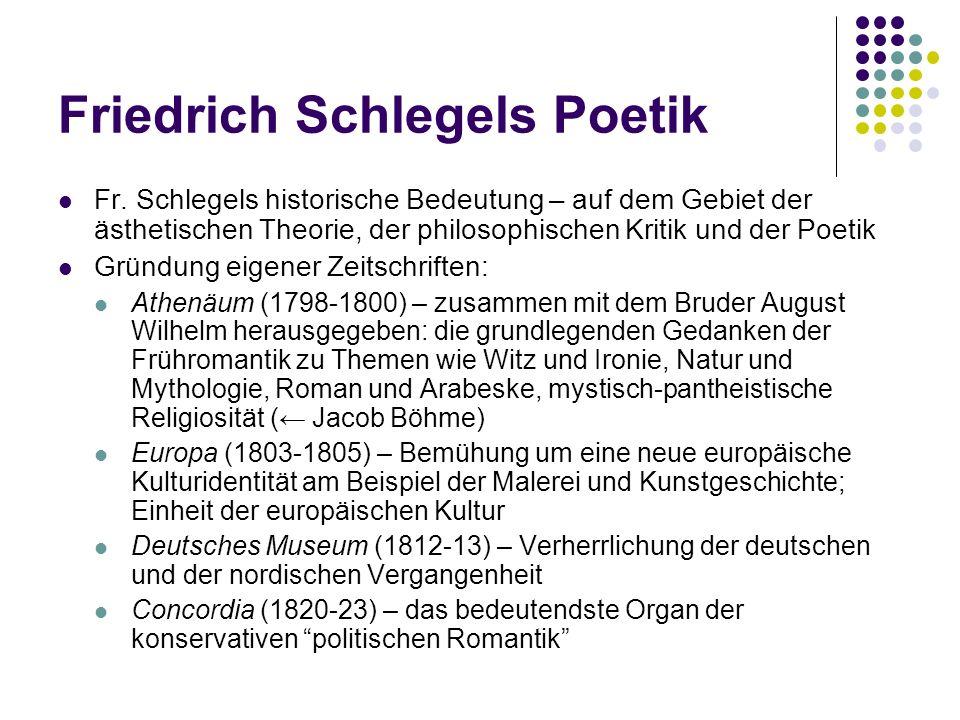 Friedrich Schlegels Poetik