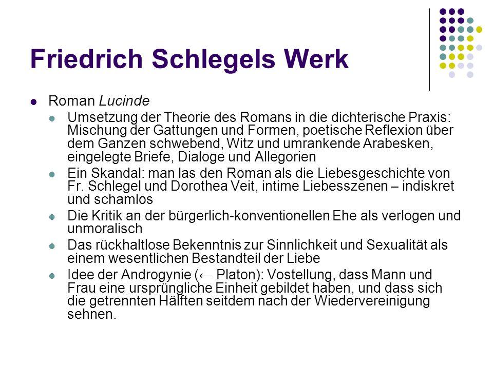 Friedrich Schlegels Werk