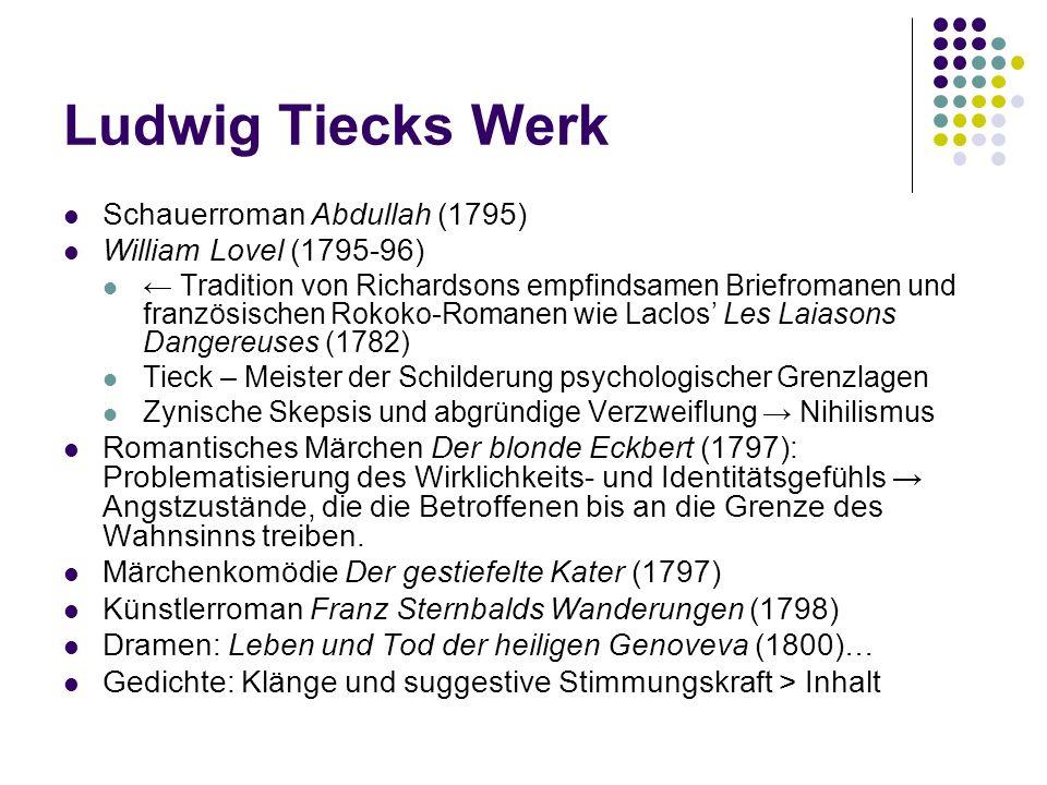 Ludwig Tiecks Werk Schauerroman Abdullah (1795)