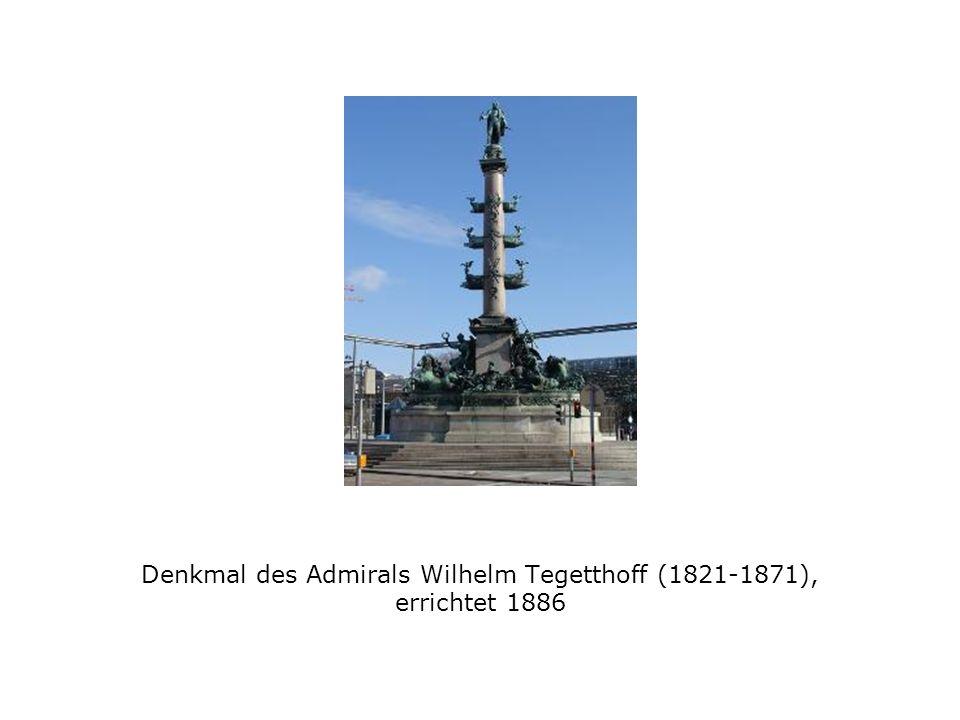 Denkmal des Admirals Wilhelm Tegetthoff (1821-1871), errichtet 1886