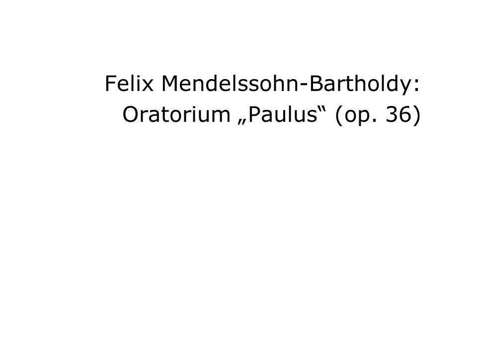 Felix Mendelssohn-Bartholdy: