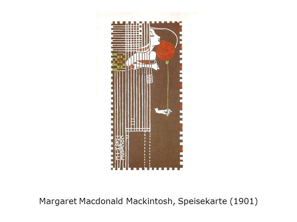 Margaret Macdonald Mackintosh, Speisekarte (1901)