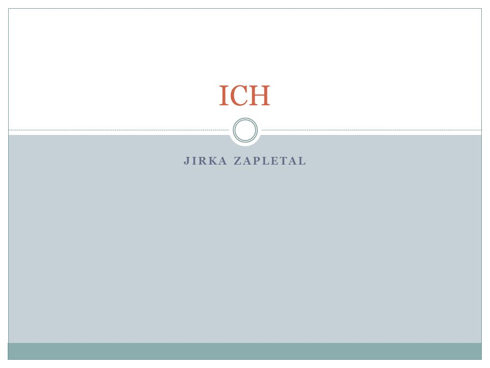 ICH Jirka Zapletal