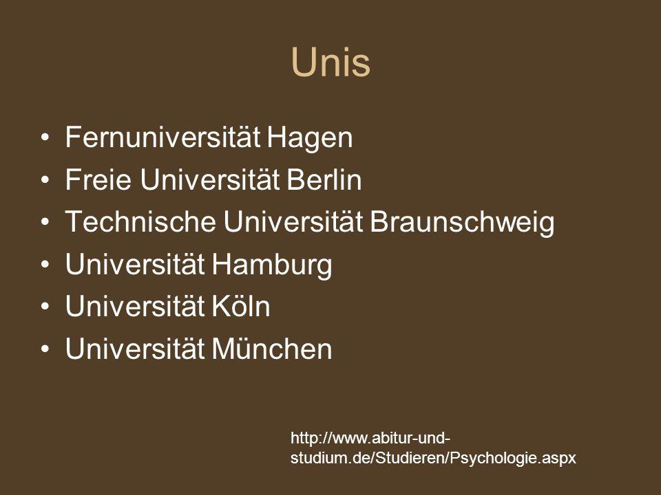 Unis Fernuniversität Hagen Freie Universität Berlin