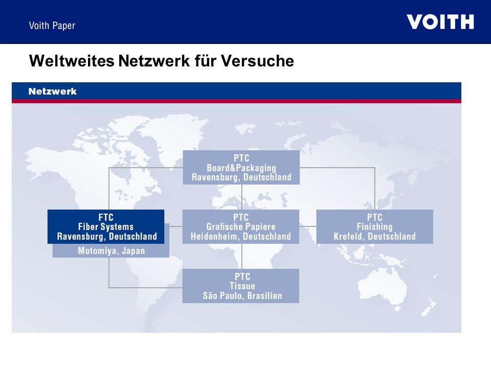 Weltweites Netzwerk für Versuche